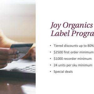 Joy Organics Private Label CBD Services
