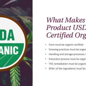 Joy Organics USDA Certified Organic CBD Products